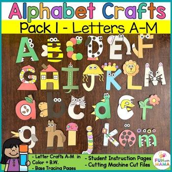 Printable Alphabet Letter Crafts Pack 1