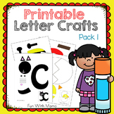 Printable Alphabet Letter Crafts Pack 1