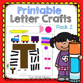 Printable Alphabet Letter Crafts Pack 2