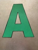 Printable Alphabet Letter Stencils for Banners, Bulletin B