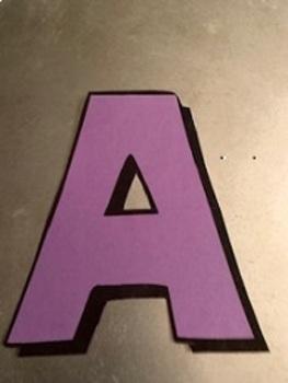 Printable Alphabet Letter Stencils for Banners, Bulletin Boards & Alphabet Books