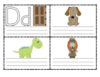 Printable Alphabet Mini Books for Handwriting Practice