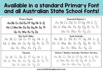 Alphabet Two-Part Puzzles for Back to School - ELEMENTARY & QLD FONT