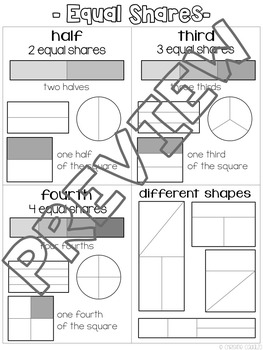 Printable Anchor Charts - 2.G.3