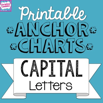 graphic relating to Printable Anchor named Printable Anchor Charts: Cash Letters