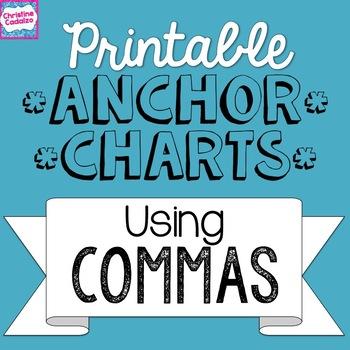 Printable Anchor Charts: Commas