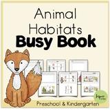 Printable Animal Habitats Busy Book (Science for Prek, Pre