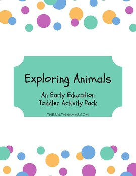 Printable Animals Activity Pack for Preschoolers