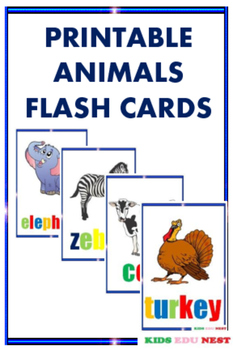 Printable Animals Flash Cards