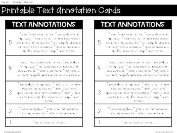 Printable: Annotation Key
