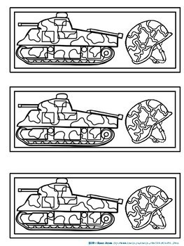 Bookmarks For Students to Color: Army