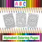 Printable Art Alphabet Coloring Pages Freebie