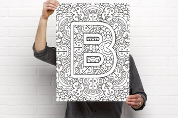Printable Art Alphabet Coloring Pages