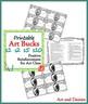 Printable Art Bucks - Art Class Rewards in $1, $2, $5 and $10 Denominations