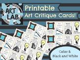 Printable Art Critique Cards - Just Print, Cut, Discuss!