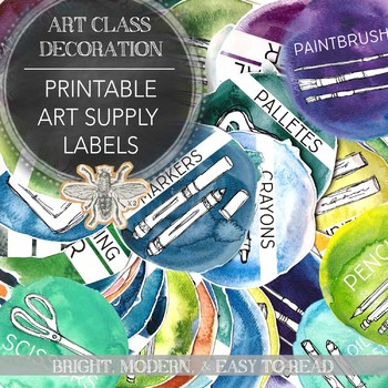 photo regarding Printable Trophy Labels named Printable Artwork Give Labels: The Straightforward Components inside Your Visible Artwork Clroom