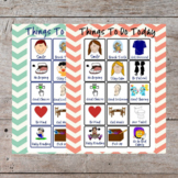 Printable Autism Special Needs Daily Behavior To Do Checklist Chart