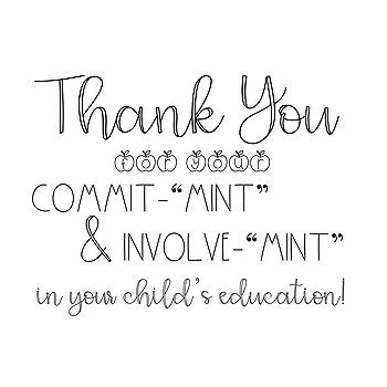 """Printable B&W Parent Thank You """"Mint"""" Signs- Great for Conferences!"""