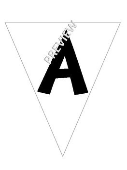 Printable Banner Pennant Style Alphabet Letters and Numbers - Bulletin Boards
