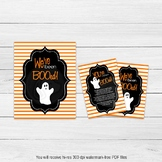 Printable BOO Sign, We've Been BOOed Sign, Halloween Games