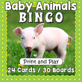 Printable Baby Animals Bingo Game