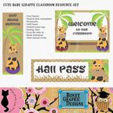 Printable Baby Giraffe Classroom Resource Set
