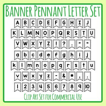 Printable Banner / Flag / Pennant Letters for Decor etc Clip Art Commercial