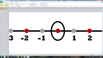 Printable Banner Number Line from -18 to +18   Red, Black and Tan