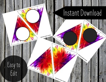 Printable Banner - Paint Brush Strokes - DIY Art Classroom Banner - Editable