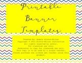 Printable Pennant Templates- Handwritten Cursive Font!