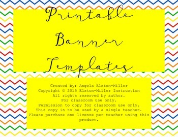 Printable Banner Templates- Handwritten Cursive Font!