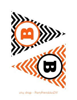 Alphabet Banner with Letters - Halloween Banner
