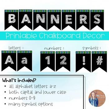 Printable Banners! (Chalkboard Style)