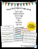 Printable Pennant Banners & Name Tags