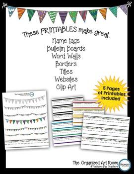 Printable Pennant Banners & Name Tags