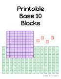 Printable Base 10 Block Manipulatives