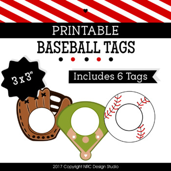 Printable Tags, Baseball, Labels, Sports Tags - Classroom Decoration