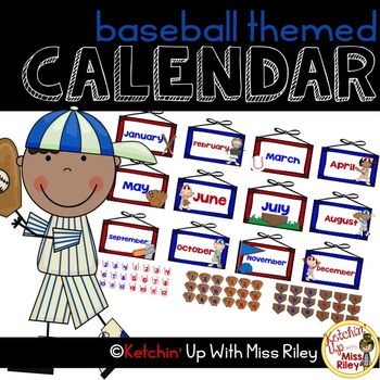 picture relating to Printable Classroom Calendar named Printable Clroom Calendar- Baseball Concept