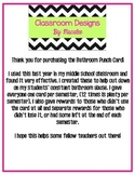 Printable: Bathroom Punch Card