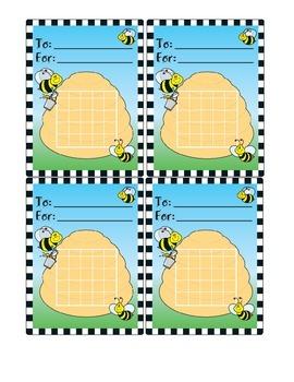 Printable Bee Mini Incentive Charts Grades PK-3