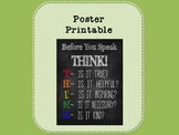 Printable - Before You Speak