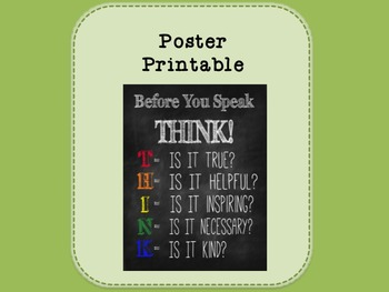 Printable - Before You Speak