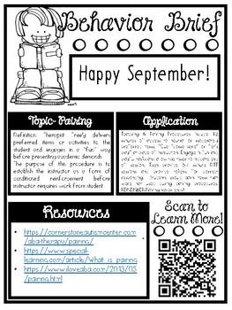 Printable Behavior Briefs Newsletter