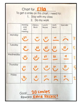 Printable Behavior Chart!  (Week-long, with daily schedule)