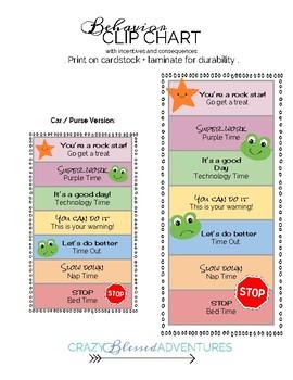 Printable Behavior Chart and Behavior Plan