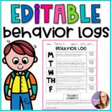 Editable Behavior Logs (K-5)