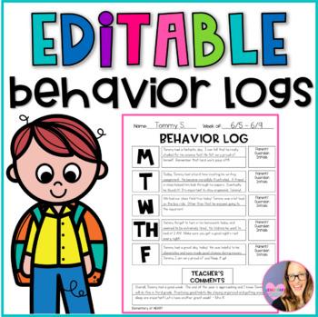 Printable Behavior Logs (K-5)