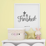 Printable Bible Verse Poster, It is finished