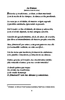 Printable Bilingual Poetry Book for Middle Readers Anahuac Poems