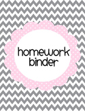 Pink and Grey Printable Binder Cover